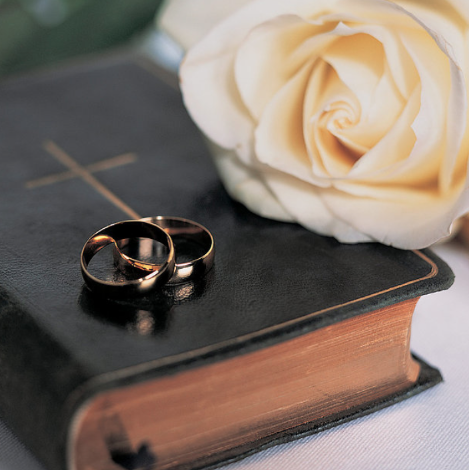Wedding Rings and Bible
