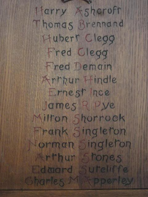 Memorial Altar Chair Names